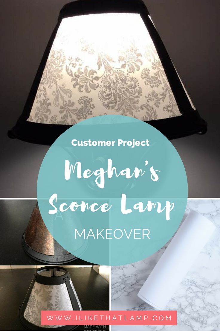Customer Lamp Projects: Meghanu0027s DIY Wall Sconce Makeover For Under $20.  Find More Inspiration