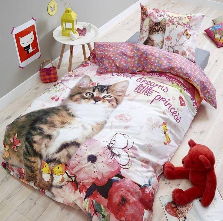 Dreamhouse Dekbedovertrek Princess Kitty poes en vlinder - Hipdekbedovertrek