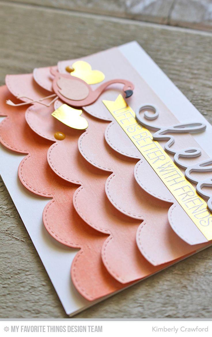 Ombre card | Scalloped card | Card ideas