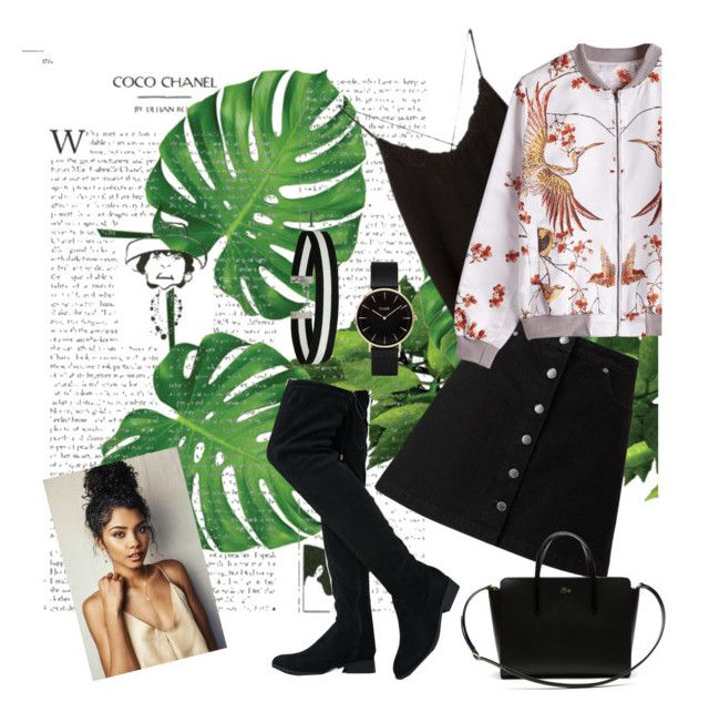 """Untitled #139"" by ioannagesouli on Polyvore featuring Chanel, Massimo Dutti, Qupid, Miss Selfridge, CLUSE and Lacoste"