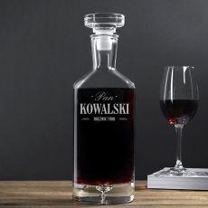 Grawerowana karafka do wina PAN Z ROCZNIKA idealny na urodziny