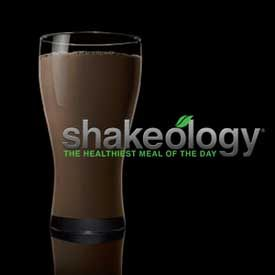 Shakeology. Healthiest meal of the day and the best chocolate peanut butter shake ever! :)