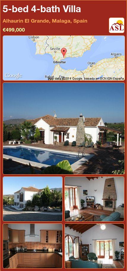 5-bed 4-bath Villa in Alhaurin El Grande, Malaga, Spain ►€499,000 #PropertyForSaleInSpain