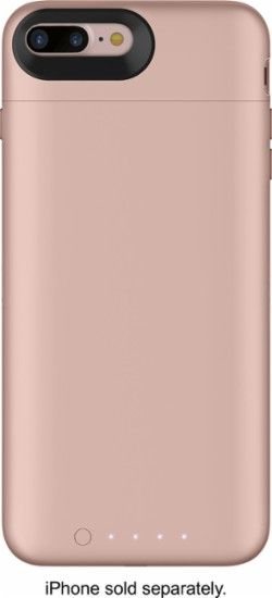 mophie - Juice Pack External Battery Case with Wireless Charging for Apple® iPhone® 7 Plus - Rose gold - Front Zoom