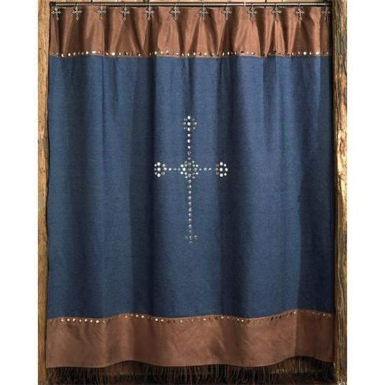 Western Cross Shower Curtain, no longer available, but maybe i can make it  myself - 26 Best Images About Denim On Pinterest
