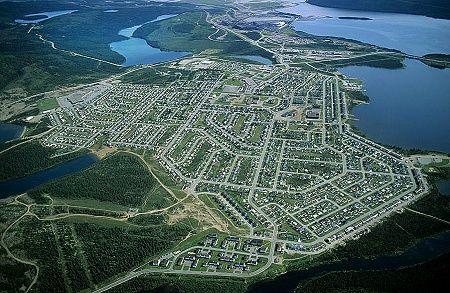 Newfoundland & Labrador| Aerial photo of Labrador City ...