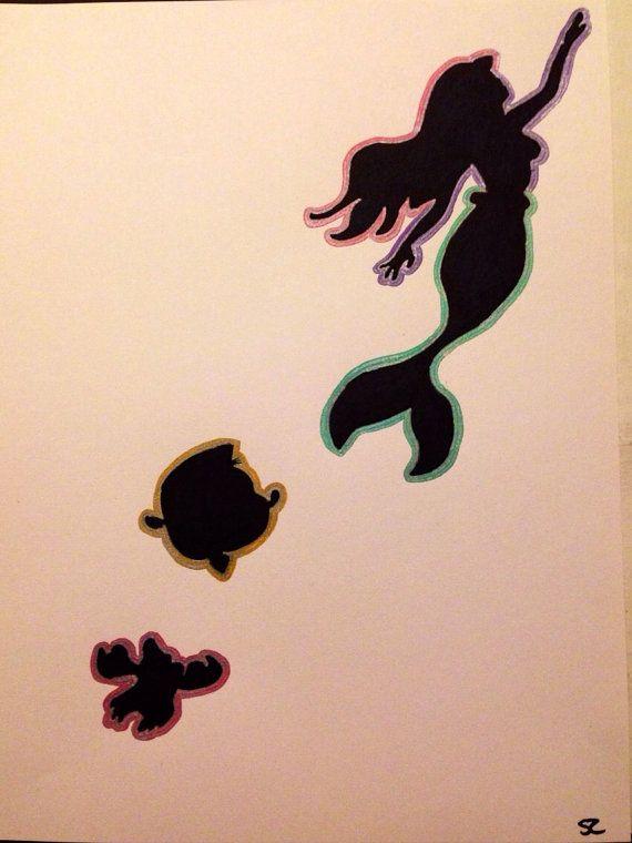 The Little Mermaid | Drawings | Pinterest | Mermaid silhouette, Disney and Artworks