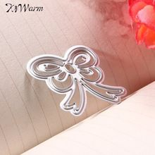 KiWarm Bowknot Metal Cutting Dies Template for DIY Album Frame Scrapbook Maker Stencils Embossing Cards Photo Decor Gift Crafts(China (Mainland))