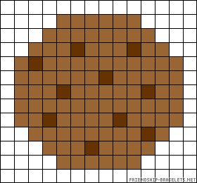 Cookie perler bead pattern