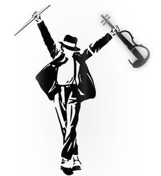 Love this electric violinist. He totally rocks and he dances too!