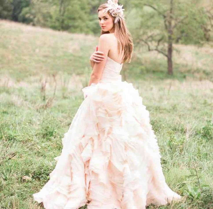 52 best pink wedding dress images on Pinterest | Homecoming dresses ...