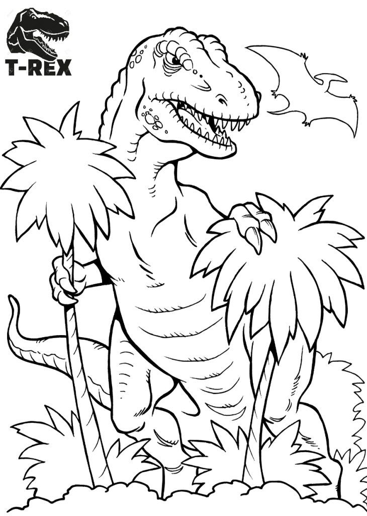 Tyrannosaurus Was One Of The Largest Meat Eating Dinosaurs That Ever Lived T Rex Coloring Spring Coloring Pages Dinosaur Coloring Sheets Animal Coloring Pages