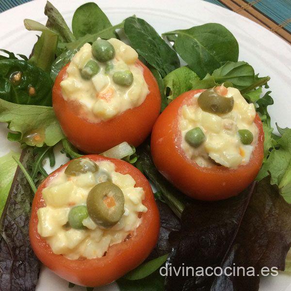 Tomates rellenos fríos » DIVINA COCINAMás de 2.000 recetas de cocina andaluza y del mundo. » DIVINA COCINA