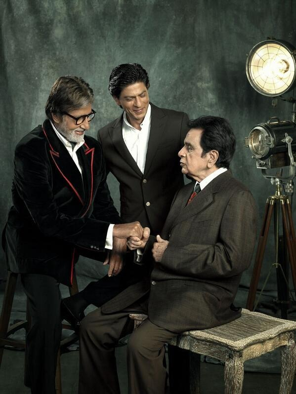 Amitabh Bachchan,Shahrukh Khan and Rohit Shetty at Filmfare launch 100yrs.