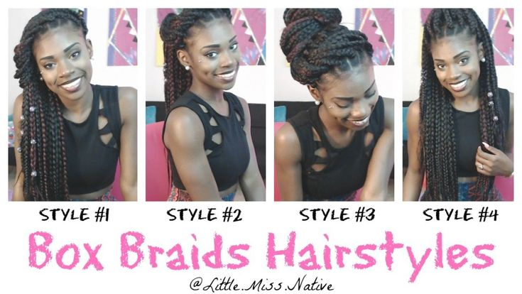 Cute Box Braid Styles [Video] - http://community.blackhairinformation.com/video-gallery/braids-and-twists-videos/cute-box-braid-styles-video