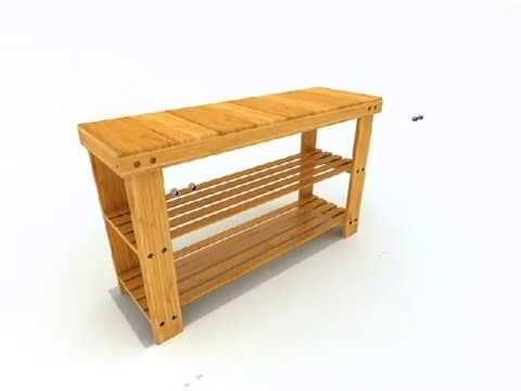 100% Natural Bamboo Shoe Bench 2 Tier Wooden Shoe Rack Shelf Organizer  https://www.amazon.com/IDMD-Natural-Organizer-Entryway-Storage/dp/B06XXC79K5