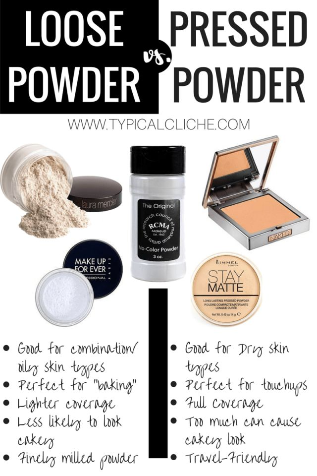 Loose Powder vs. Pressed Powder; which one is better for your skin type? For dry skin pressed powder is better. For Oily Skin loose powder is better.