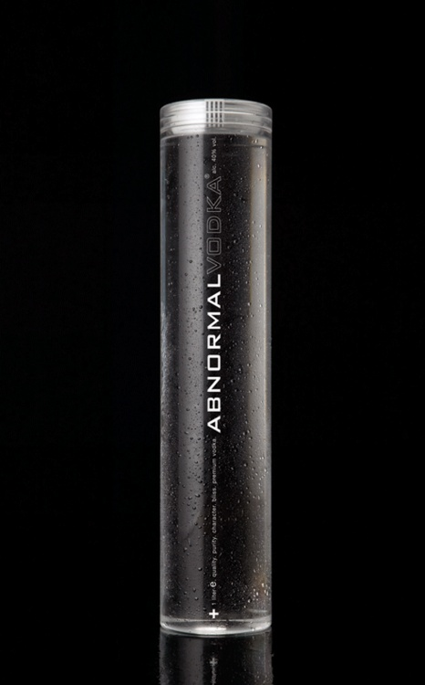 Abnormal Vodka, The World's First Neckless Bottle In a saturated market of premium Vodka brands, we created the next level of experience for consumers by asking provocative questions and taking a novel design approach. Looking at bottle design today, we felt that the ultra-premium vodka beverage category deserved a more progressive design – one that would evoke emotion, push bottle design to the limit, and really stand out on a shelf, yet be cost-efficient and easy to manufacture.