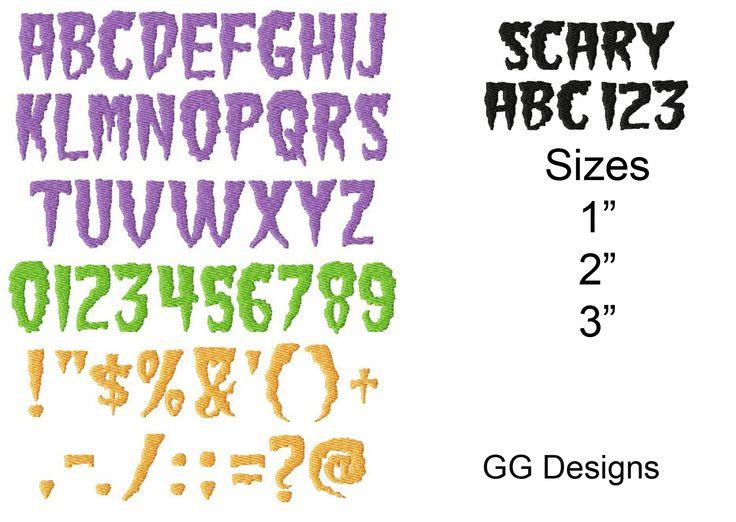9 besten Halloween Monogram Fonts Bilder auf Pinterest | Halloween ...