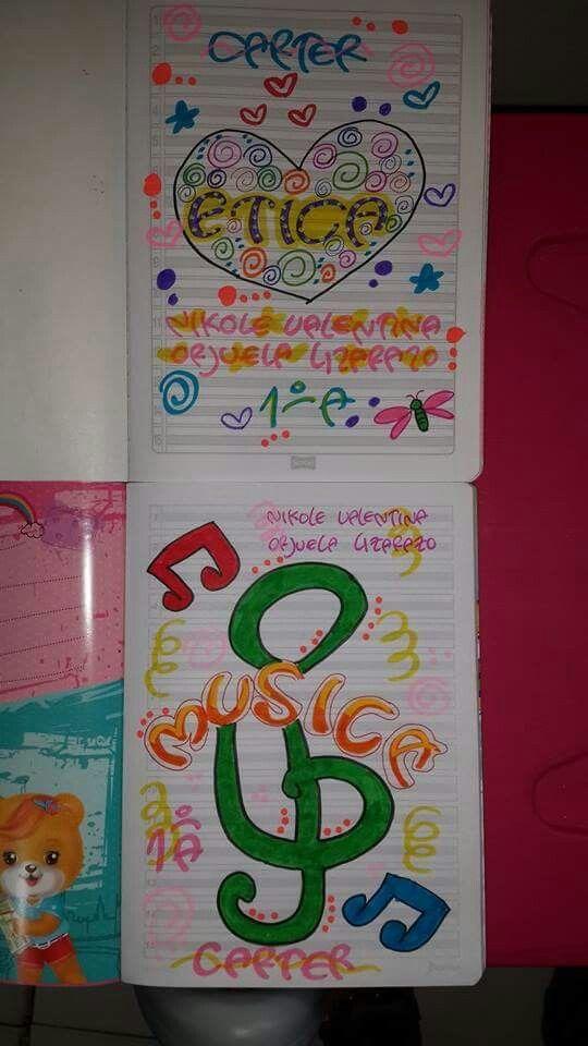 Letras De Decoracion Para Cuadernos ~ decoraciones cuadernos portadas cuadernos planificadores 1 cuadernos