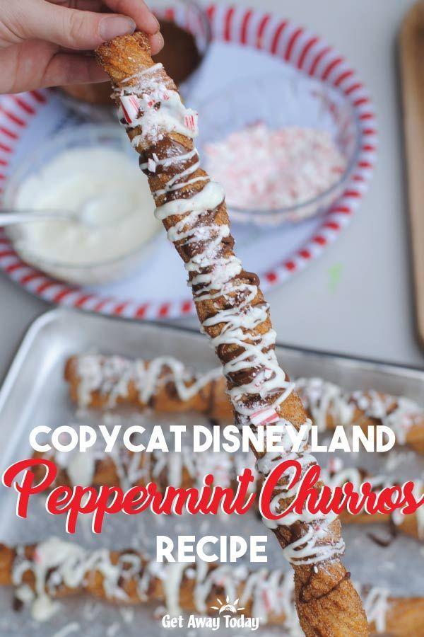 Peppermint Churros Recipe Copycat Disneyland Recipe In 2020 Churros Recipe Disney Desserts Churros