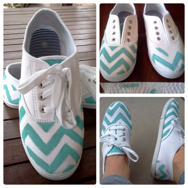 Hand painted shoes! Super easy but can get tedious
