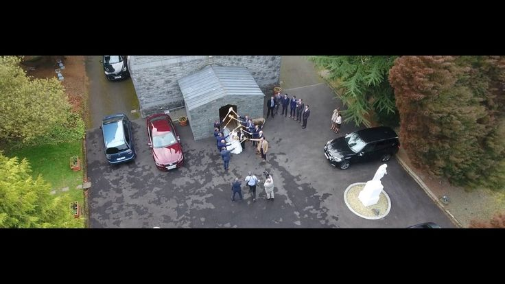 Celine & Padraig's Wedding - Drone footage of Moynalvey Church #wedding #weddingideas #weddingidea #uniquewedding