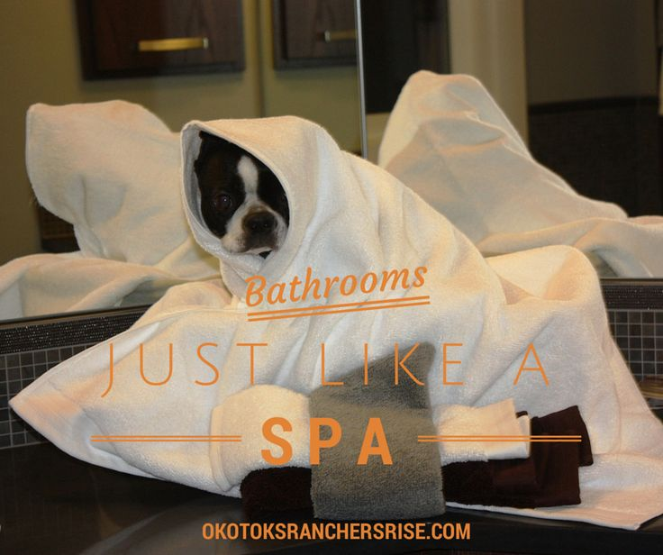 Bathrooms just like a spa at Ranchers' Rise in Okotoks. Even your little diva will love it, just like Mickey! http://okotoksranchersrise.com