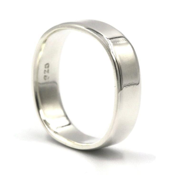 Sterling Silver Ring Wedding Ring Wedding Band Silver Ring Square Ring Unisex Ring Silver Rings Women Silver Ring Men Men S Ring Sterling Silver Wedding Rings Square Wedding Rings Square Rings