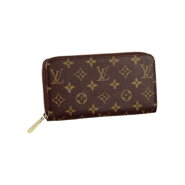 * Louis Vuitton Zippy Brown Wallet in Monogram Canvas M60017  ($140)