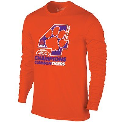 new product 1c89e 3f359 Men s Original Retro Brand Orange Clemson Tigers 2018 ACC Football  Champions Locker Room Long Sleeve T-Shirt