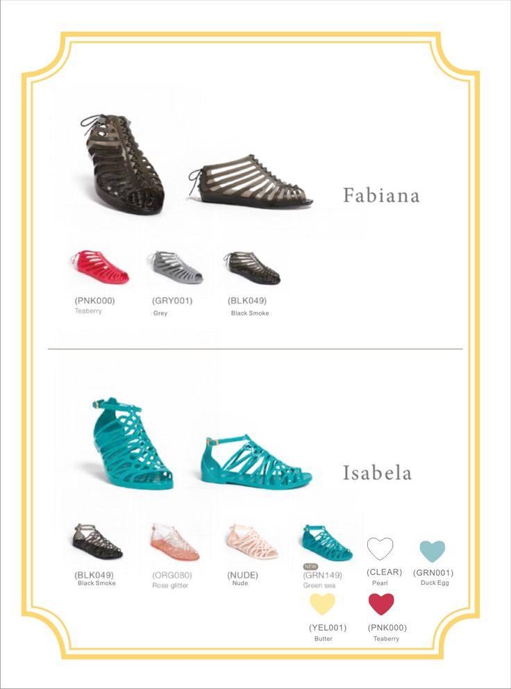 Gladiator sandals, choose between Fabiana and Isabela