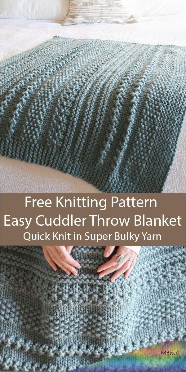 Feb 11 2020 Free Knitting For Easy Cuddler Throw Blanket In 2 Sizes In Super Bulky Yarn Te In 2020 Strickdecke Muster Decke Stricken Muster Stricken Leicht Gemacht