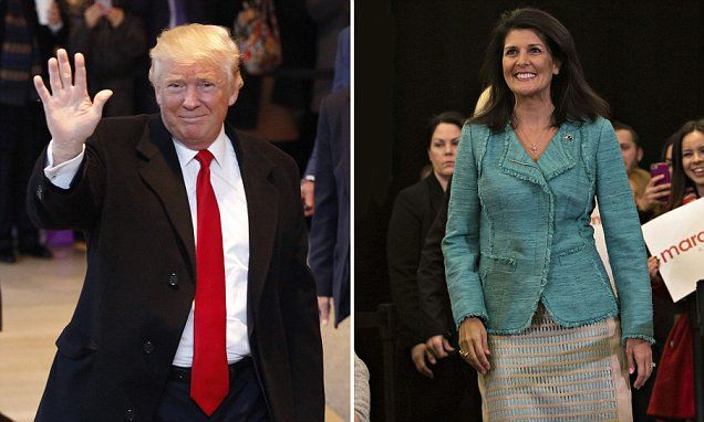 Trump anmes Nikki Haley ambassador to the UN