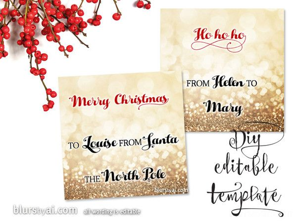 25+ unique Christmas gift tags template ideas on Pinterest - christmas card word template