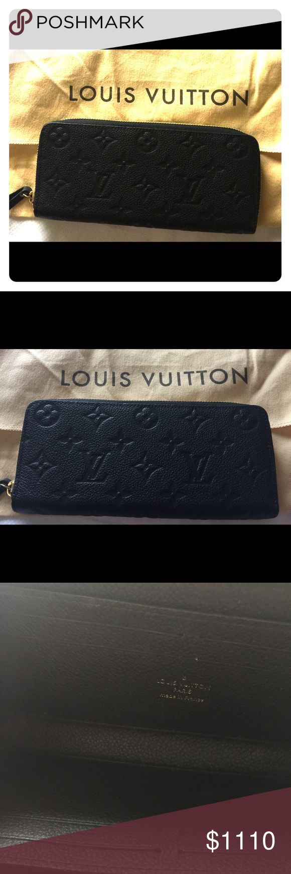 EUC Authentic Louis Vuitton Zippy Wallet; Black EUC Authentic Louis Vuitton Zippy Wallet; Black. Virtually brand new. Only used a few times w the beautiful bag that I just sold. MSRP: $1310. Comes w dustbag; no box. Price is firm. Louis Vuitton Bags Wallets