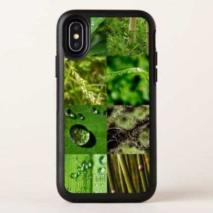 Green Leaf & Tree Nature Collage OtterBox Symmetry iPhone X Case -nature diy customize sprecial design