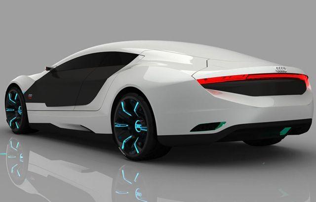 Audi A9 concept car, paint changes colors