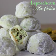 Leprechaun Tea Cookies | Famished Fish, Finicky Shark - St. Patrick's Day Cookies, Luck of the Irish Cookies, Mexican Wedding Cakes, Russian Tea Cookies, Christmas Cookies, Snowballs