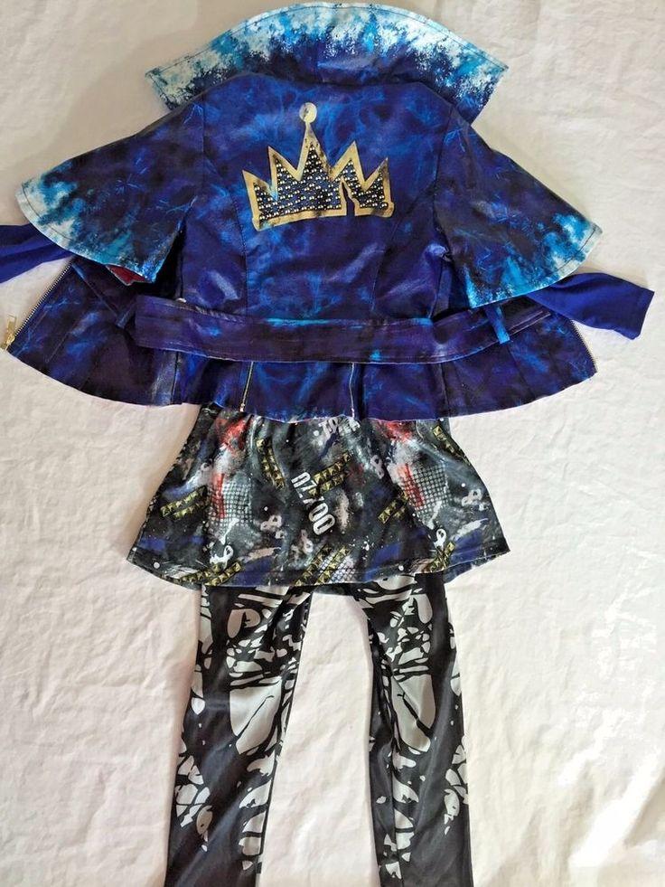 Disney Store Deluxe Descendants Evie Costume Girls Halloween Size 4 No Gloves #DisneyStore #JacketandLeggings