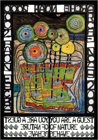 Friedensreich Hundertwasser - love his art work and would love to see his architecture in person in Austria!