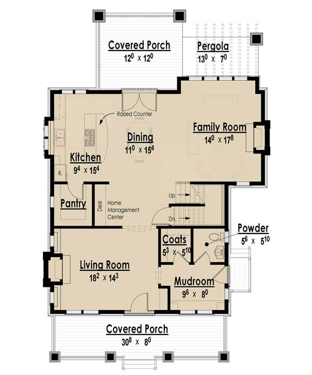 Arts and crafts cottage house plans