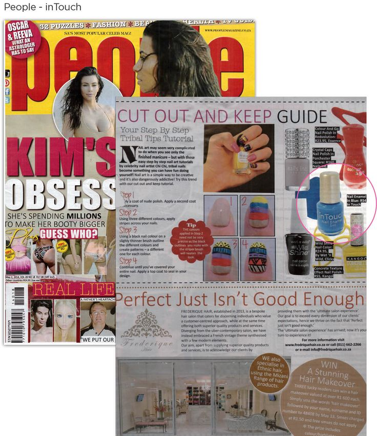 inTouch's Blue Velvet Rope nail polish in People Magazine.