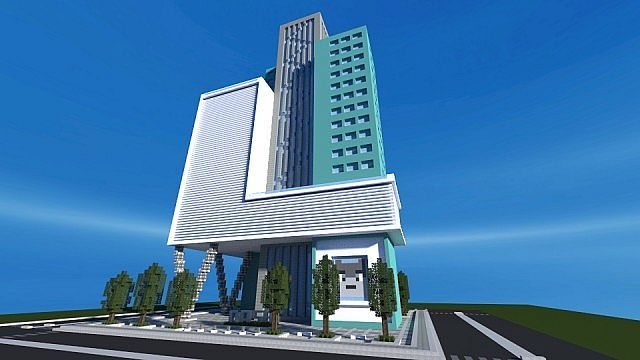 Dash towers modern skyscraper minecraft building inc for Office design minecraft