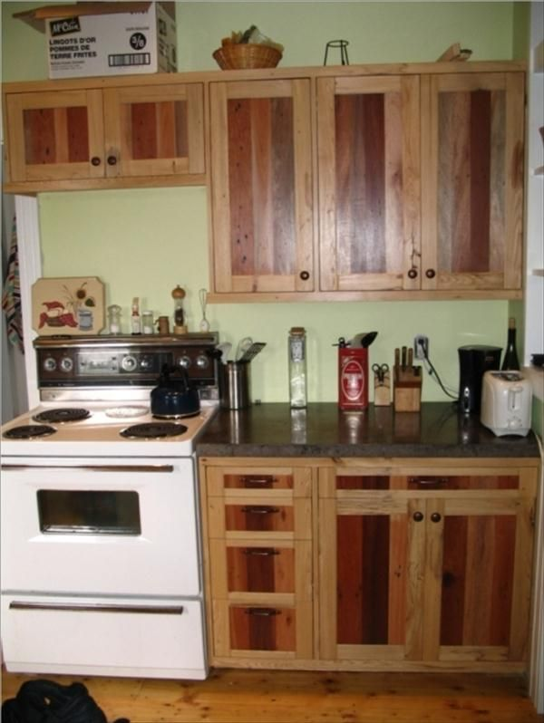 what wood is best for kitchen cabinets diy pallet kitchen cabinets low budget renovation 28379