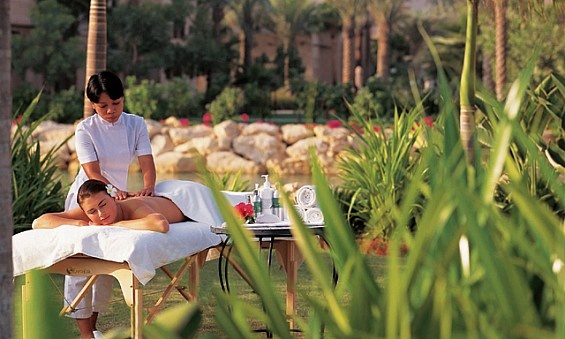 Outdoor spa treatment at Talise