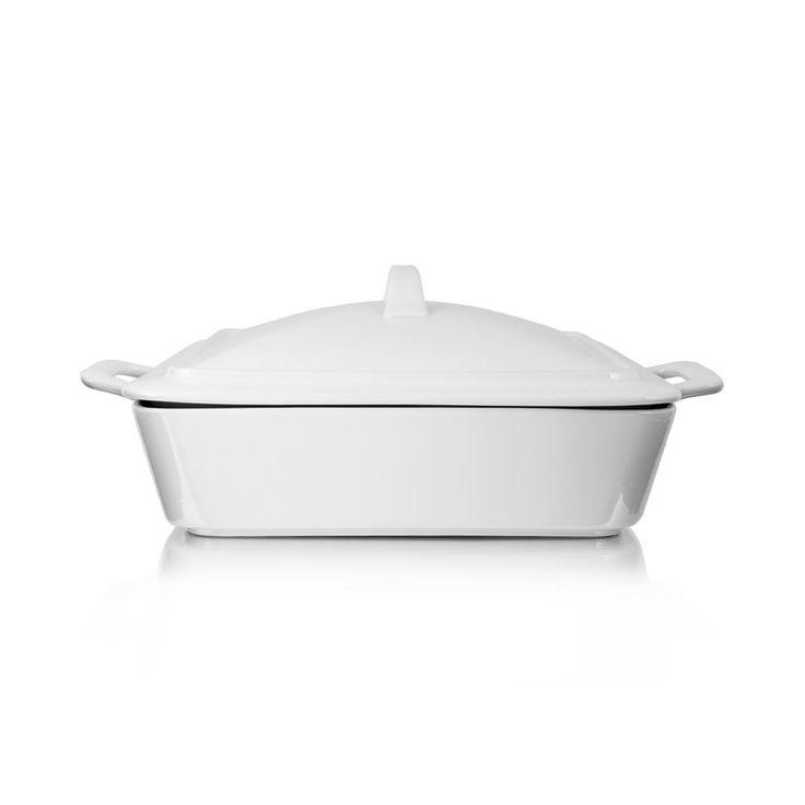 Square Porcelain Casserole Dish with Lid