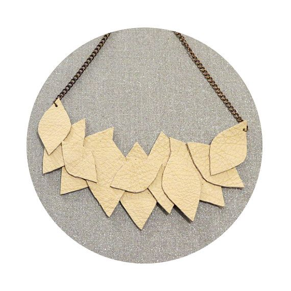 Leaves Leather necklace by maayanhus on Etsy
