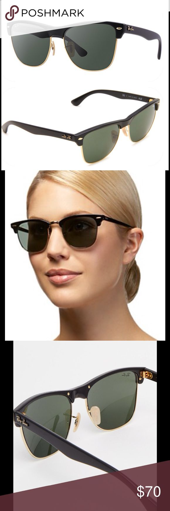 New Ray-Ban Oversized Clubmaster Sunglasses Black RB4175 877 57-16 Born from a mesh between two of Ray-Ban's most iconic and popular sunglasses - the Clubmaster and Wayfarer - are truly one of a kind. Clubmaster sunglasses feature oversized oval lenses paired with Clubmaster-inspired top-rimmed frames and Wayfarer-inspired temple and frame design. These sunglasses have a contemporary design yet maintain a retro feel. The larger lenses provide a fashionable look and are flattering on most…