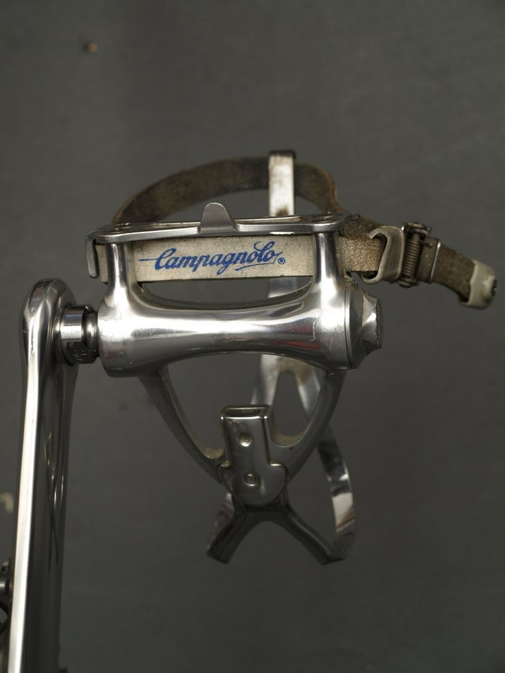 Campagnolo C-Record Pedals, Toe Clips and Straps